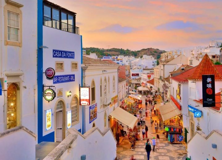 Old town Albufeira: 3,4km